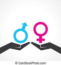 Illustration of male & female icon