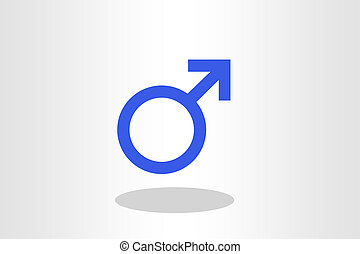 Illustration of male sign icon