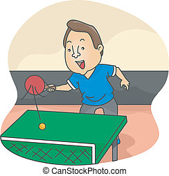 Male Table Tennis Player - Illustration of Male Table Tennis...
