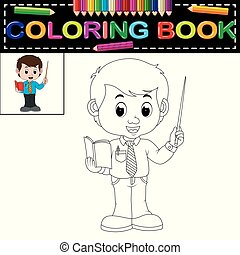 male teacher coloring book