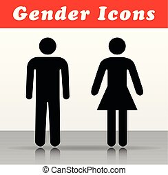 man and woman vector icons
