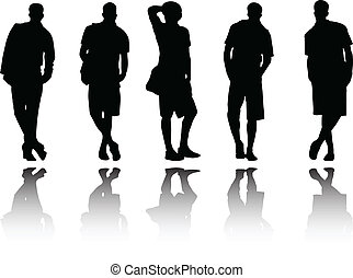 man with reflection - vector