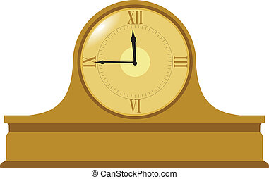 Illustration of mantel clock