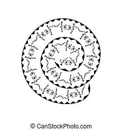Illustration of maori tattoo design