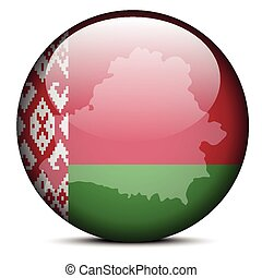 Map on flag button of Republic of Belarus