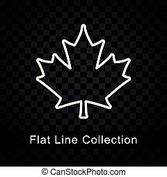 maple leaf icon on checkered background - Illustration of...