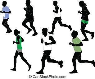 marathon collection - vector