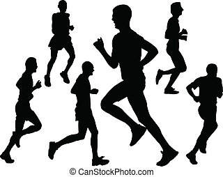 marathon - vector