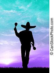 Mariachi silhouette