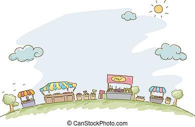 Market Sketch Background - Illustration of Market Sketch ...