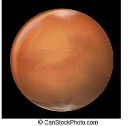 Mars - Illustration of Mars