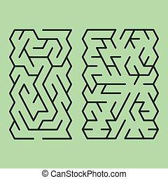 illustration of maze set
