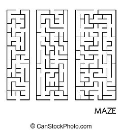 illustration of maze set