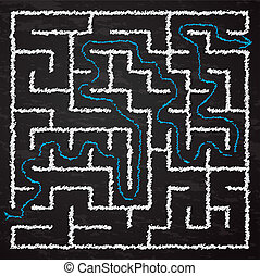 Illustration of maze