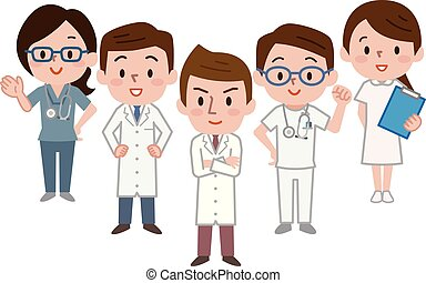 Illustration of medical team