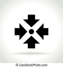 meeting point icon on white background