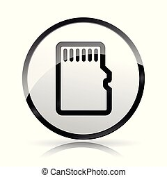 memory card icon on white background