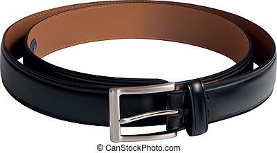 Men black belt - Illustration of Men black belt isolated on...