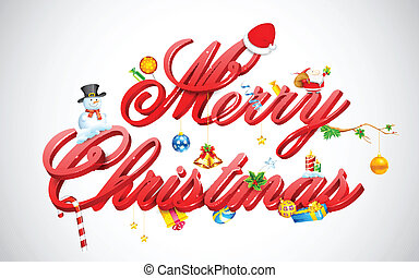 illustration of Merry Christmas background with decoration
