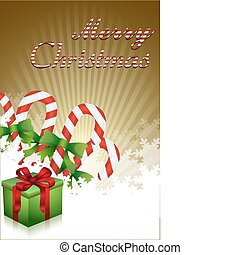 merry christmas with gifts and candies