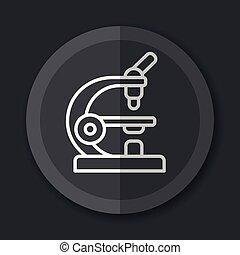 microscope gray icon flat concept