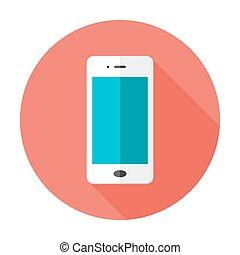 Mobile Flat Circle Icon
