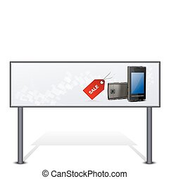 mobile for sale on bill board