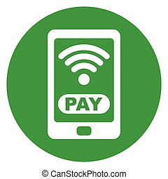 mobile payment circle icon