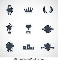 Illustration of modern flat design awards
