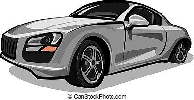 silver sport car