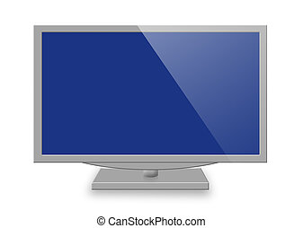 tv set - Illustration of modern tv set isolated on white ...