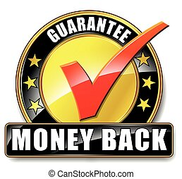 money back icon on white background