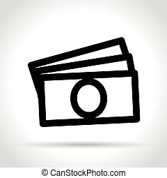 money icon on white background