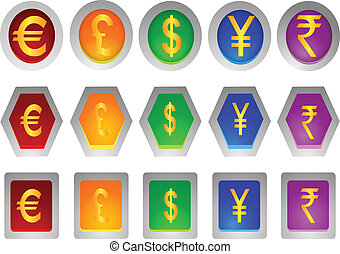 money sign icons