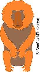 Illustration of monkey baboon