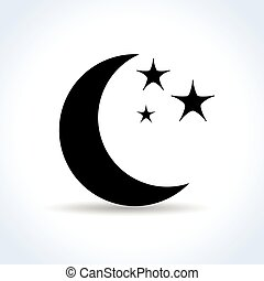 moon icon on white background