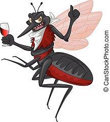 illustration of Mosquito cartoon