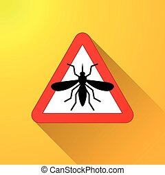 mosquito warning abstract concept