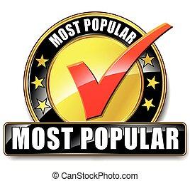 most popular icon - Illustration of most popular icon on...