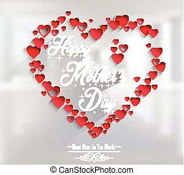 Mothers day with concept hearts