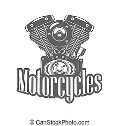 Illustration of motorcycle engine