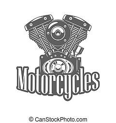 Illustration of motorcycle engine