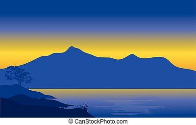Illustration of mountain silhouette