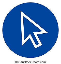 mouse cursor circle icon