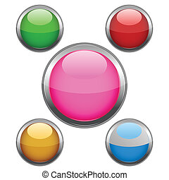 multi colored buttons