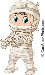 Mummy walking - illustration of Mummy walking