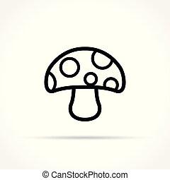 mushroom icon on white background