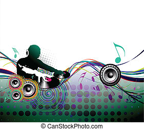 illustration of music design