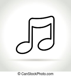 music icon on white background