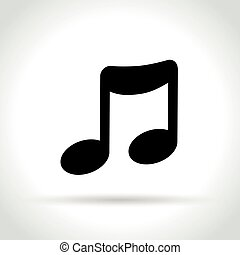 music note icon on white background